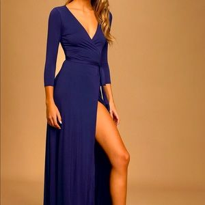 Navy/Royal Blue Stunning Long Dress